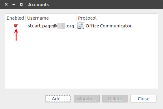 Ubuntu 16 04 - Configure Pidgin for Skype for Business/Lync